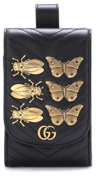 Gucci GG Marmont leather belt pouch - BLACK - STYLE