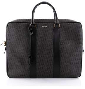 Saint Laurent Pre-owned: Convertible Briefcase Toile With Leather Large.