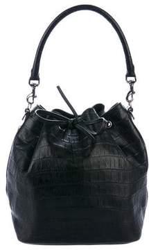 Saint Laurent Embossed Leather Large Emmanuelle Satchel
