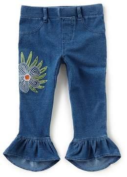 Flapdoodles Little Girls 2T-6X Denim Capri Pants