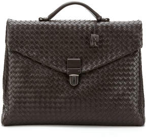 Bottega Veneta Large Woven Leather Briefcase