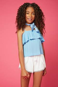 Forever 21 Girls Flounce Layer Top (Kids)