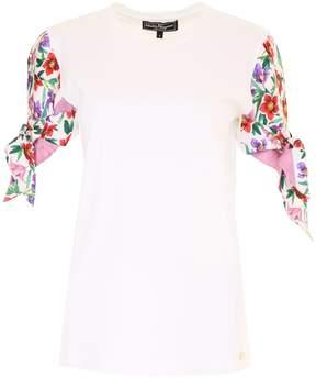 Salvatore Ferragamo Cotton And Silk Twill T-shirt
