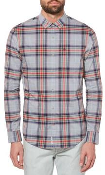 Original Penguin Men's P55 Heritage Slim Fit Plaid Shirt