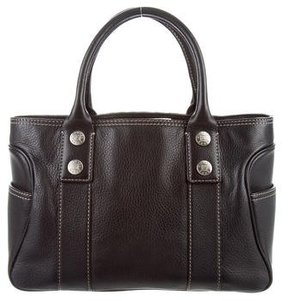 MICHAEL Michael Kors Grained Leather Tote - BLACK - STYLE
