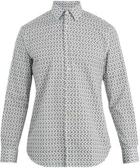 Paul Smith Single-cuff floral-print cotton shirt