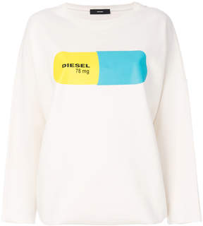 Diesel printed drop-shoulder sweatshirt