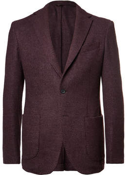 Altea Burgundy Wool, Silk And Cashmere-Blend Bouclé Blazer