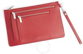 Royce Leather Royce Red Saffiano Leather RFID Blocking Cross Body Bag