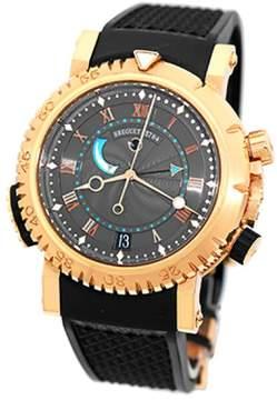 Breguet Marine Royale Alarm 18K Rose Gold Mens Strap Watch