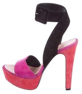 Barbara Bui Suede Colorblock Sandals