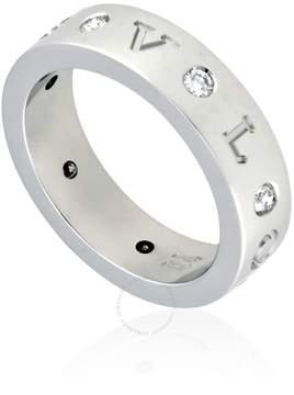 Bvlgari 18K White Gold Diamond-Set Ring- Size 51