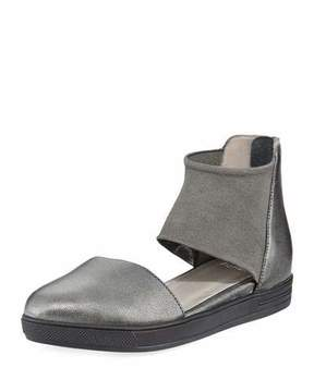Eileen Fisher Powell Stretch-Mesh Metallic Sneaker, Pewter