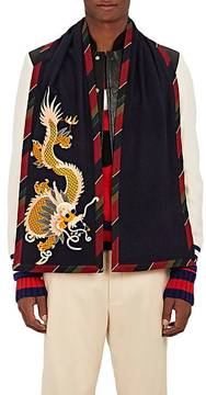 Gucci Men's Riverworks Silk-Cashmere Scarf