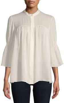 Carolina Herrera Women's Bell-Sleeve Silk Blouse
