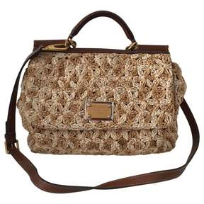 Dolce & Gabbana Beige Wicker Handbag Sicily - BEIGE - STYLE