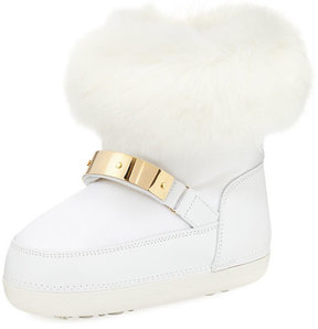 Giuseppe Zanotti Kids' Snow Laceless Fur Boot, Infant/Toddler