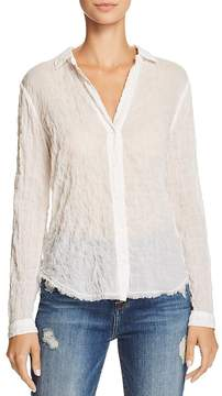 Bella Dahl Frayed-Hem Button-Down Shirt