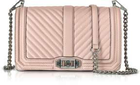 Rebecca Minkoff Vintage Pink Leather Chevron Quilted Love Crossbody Bag - ONE COLOR - STYLE