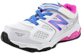 New Balance Ka680 Youth Round Toe Synthetic White Sneakers.