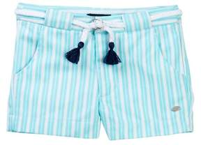 Tommy Hilfiger Striped Short with Novelty Belt (Little Girls)
