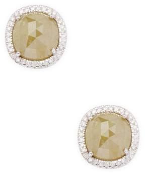 Artisan Women's Round-Cut Diamond Stud Earrings