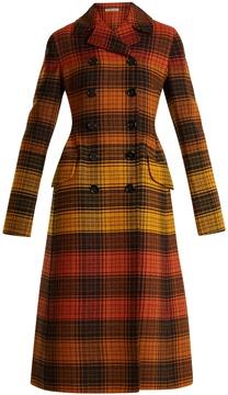 Bottega Veneta Double-breasted checked wool coat