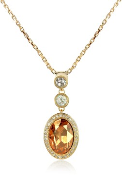 A-Z Collection Gold-plated Triple Drop Necklace