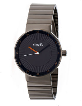Simplify The 4600 Unisex Gray Bracelet Watch-Sim4606