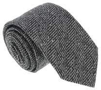 Missoni U5317 Black/gray Twill 100% Silk Tie.