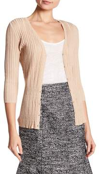 Ellen Tracy Lurex Pleated Cardigan