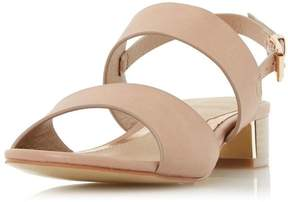 Head Over Heels *Head Over Heels by Dune Nude 'Navilla' Low Heel Sandals