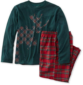 L.L. Bean Kids' L.L.Bean Flannel PJs, Tee and Pants Set