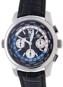 Girard Perregaux World Time Chronograph BMW Oracle Racing 49800-11-657-FK6A Stainless Steel 43mm Mens Watch