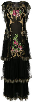 Alberta Ferretti embroidered evening gown