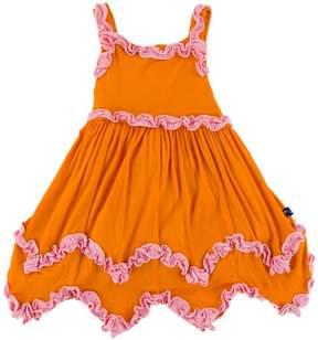 Kickee Pants Sunset Ruffle Dress-Romper