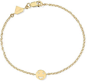 Alison Lou Happy 14-karat Gold Diamond Bracelet