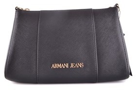 Armani Jeans Women's Black Polyester Clutch.