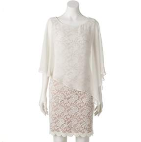 Connected Apparel Women's Lace Asymmetrical Popover Dress