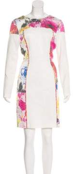 Christian Siriano Matelassé Printed Dress