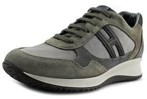Hogan Time Active Sportivo H Canaletto Round Toe Suede Sneakers.