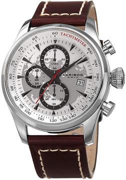Akribos XXIV Mens Brown Strap Watch-A-915ss