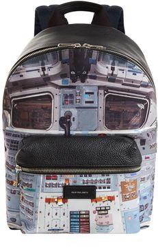 Paul Smith Russian Spaceship Print Backpack