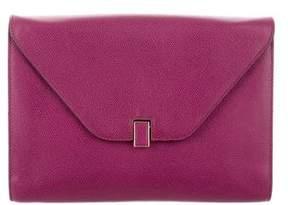 Valextra Leather Envelope Clutch