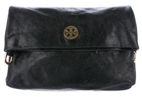 Tory Burch City Foldover Messenger Bag - BLACK - STYLE