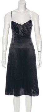 Emporio Armani Silk Pleated Dress