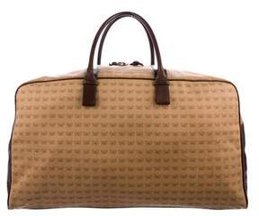 Bottega Veneta Leather-Trimmed Butterfly Print Duffle Bag