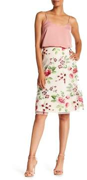 ECI Embroidered Floral Mesh Skirt