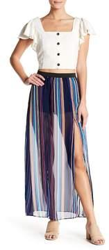 Flying Tomato Striped Sheer Maxi Skirt