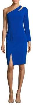 Laundry by Shelli Segal Cutout One-Shoulder Dress
